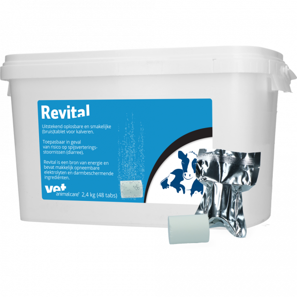 Revital Bruistablet kalverdiarree 48 tabletten