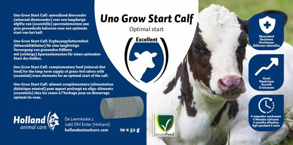 Uno Grow Start Calf Bolus 20 stuks