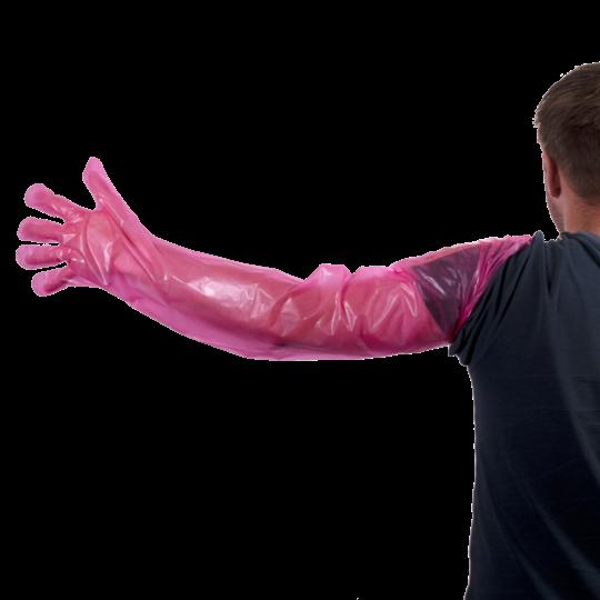 Wegwerp Handschoen Vet Roze 100 stuks